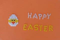 Carta felice del pollo di pasqua Fotografia Stock