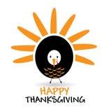 Carta felice dell'illustrazione di ringraziamento Fotografia Stock