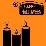 Carta felice della candela di Halloween. Fotografia Stock Libera da Diritti
