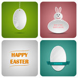 Carta felice della decorazione di Pasqua fatta da Libro Bianco Immagini Stock