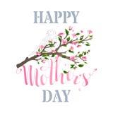 Carta felice della primavera di festa della Mamma Fotografie Stock Libere da Diritti