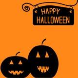 Carta felice della zucca di Halloween. Fotografie Stock