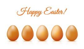 Carta felice delle uova di Pasqua Fotografia Stock Libera da Diritti