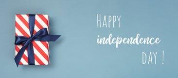 Carta felice di festa dell'indipendenza Immagini Stock