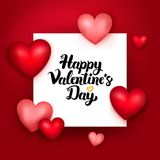 Carta felice di giorno di biglietti di S. Valentino Fotografia Stock