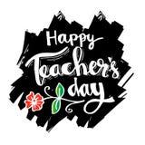 Carta felice di giorno degli insegnanti illustrazione di stock