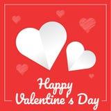 Carta felice di giorno dei valentine's, illustrazione Immagini Stock