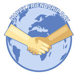 Carta felice di giorno di amicizia 4 agosto illustrazione di stock