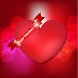 Carta felice di giorno di biglietti di S. Valentino Fotografie Stock