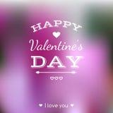 Carta felice di giorno di biglietti di S. Valentino Immagine Stock