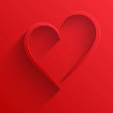 Carta felice di giorno di biglietti di S. Valentino del cuore del fondo Fotografia Stock Libera da Diritti