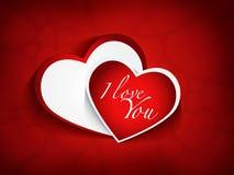 Carta felice di giorno di biglietti di S. Valentino di AMORE illustrazione di stock