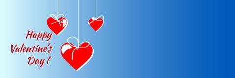 Carta felice di giorno di biglietti di S Vettore fondo dell'aletta di filatoio Immagine Stock