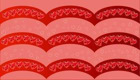 Carta felice di giorno di biglietti di S Vettore fondo dell'aletta di filatoio con i cuori Immagini Stock