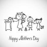 Carta felice di giorno di madri Fotografia Stock Libera da Diritti