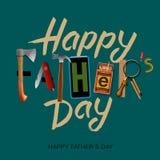 Carta felice di giorno di padri, retro progettazione d'annata Immagini Stock Libere da Diritti