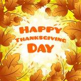 Carta felice di giorno di ringraziamento Fotografia Stock Libera da Diritti