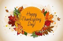 Carta felice di giorno di ringraziamento Immagini Stock