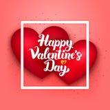 Carta felice di rosa di giorno di biglietti di S. Valentino Fotografia Stock Libera da Diritti