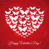 Carta felice di San Valentino Fotografia Stock Libera da Diritti