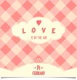 Carta felice di San Valentino Immagini Stock Libere da Diritti