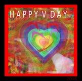 Carta felice di San Valentino 2016 Immagine Stock Libera da Diritti