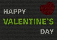 Carta felice di San Valentino di Unordinary Immagini Stock