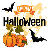 Carta felice di vettore di Halloween Immagine Stock