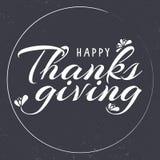 Carta felice disegnata a mano di tipografia di ringraziamento Immagini Stock Libere da Diritti