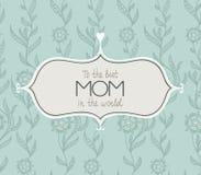 Carta felice meravigliosa di giorni di madri nel vettore Fotografie Stock Libere da Diritti