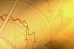 Carta financeira Imagens de Stock Royalty Free