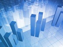 Carta financeira abstrata Imagens de Stock Royalty Free