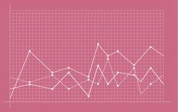 Carta financeira abstrata com gráfico linear uptrend ilustração stock