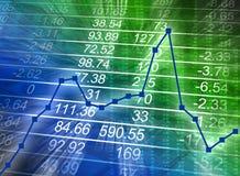 Carta financeira abstrata com números Fotos de Stock Royalty Free