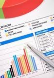Carta financeira do negócio do salário Fotografia de Stock