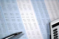 carta financeira e conservada em estoque Imagens de Stock Royalty Free