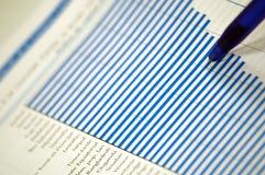 Carta financeira e de negócio Imagens de Stock Royalty Free