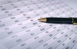 Carta financiera Imagen de archivo