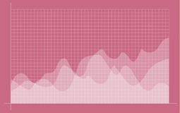 Carta financiera abstracta con la línea gráfico de la tendencia al alza libre illustration