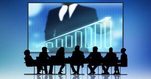Carta financiera del mercado de acción del gráfico Concepto de la tecnología de Internet del negocio de la inversión de las divis stock de ilustración