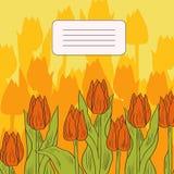 Carta floreale con i tulipani illustrazione di stock