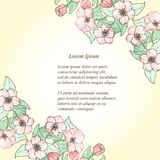 Carta floreale con il posto per il vostro testo Royalty Illustrazione gratis