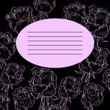 Carta floreale con le rose royalty illustrazione gratis