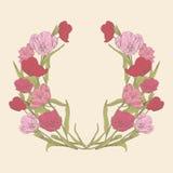Carta floreale dei tulipani Fotografia Stock