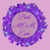 Carta floreale di festa della mamma felice con i fiori impressionanti nello stile dell'acquerello Modello della carta della prima royalty illustrazione gratis