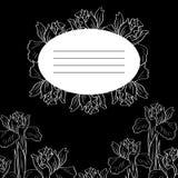 Carta floreale nera illustrazione di stock