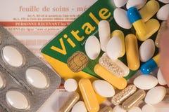 Carta francesa Vitale Fotografía de archivo libre de regalías