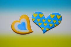 Carta in giallo ed in blu illustrazione vettoriale