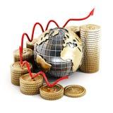 Carta global da finança Imagens de Stock Royalty Free