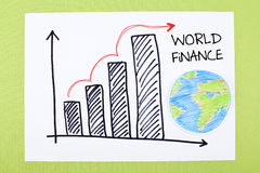 Carta global da finança Foto de Stock Royalty Free